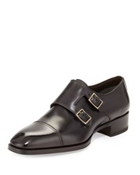Tom Ford Gianni Double Monk Strap Loafer Gray