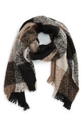 Sole Society Women's Check Blanket Scarf