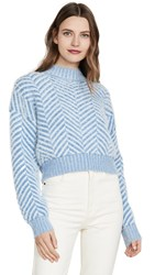 C Meo Collective Stuck On You Sweater Blue With Blue