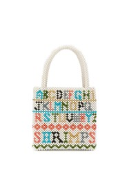 Shrimps Hera Alphabet Tote Bag White
