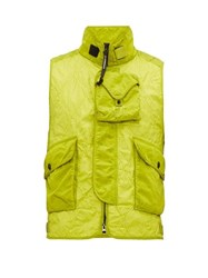 C.P. Company Multi Pocket Quilted Gilet Green