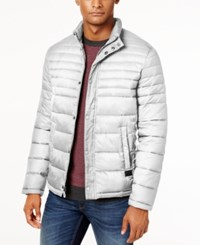 Kenneth Cole Quilted Packable Puffer Coat Stone Black
