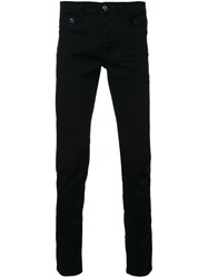Iceberg Cat Detail Slim Fit Jeans Black