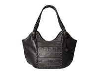 The Sak Indio Satchel Black Tribal Quilt Shoulder Handbags