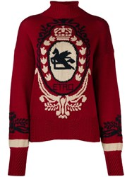 Etro Contrast Knit Jumper Red