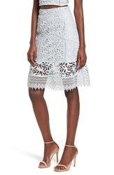 Leith Lace Skirt Blue Pearl