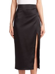 Abs By Allen Schwartz Side Slit Skirt Black
