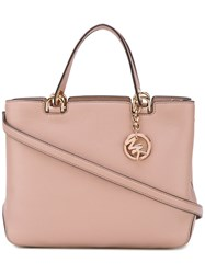 Michael Michael Kors Zipped Tote Women Leather One Size Pink Purple