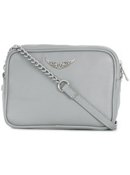 Zadig And Voltaire Logo Plaque Crossbody Bag Grey