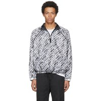 Adidas By Alexander Wang Originals Reversible White And Black Aw Windbreaker Jacket