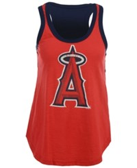 G3 Sports Women's Los Angeles Angels Of Anaheim Power Play Tank Red Navy