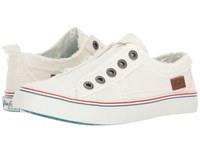 Blowfish Play White Color Washed Cozumel Linen Women's Lace Up Casual Shoes