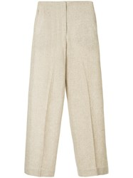 Bambah Sparkle Tailored Trousers Linen Flax Brown