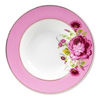 Pip Studio Floral Pasta Plate Pink
