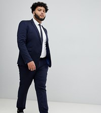 Burton Menswear Big And Tall Skinny Suit Trousers In Navy