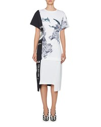 Stella Mccartney Thanks Girls Short Sleeve Sealife Print T Shirt White