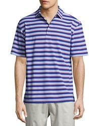 Peter Millar Peace Stripe Polo Shirt Blue
