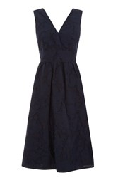 Warehouse Burn Out Prom Dress Navy