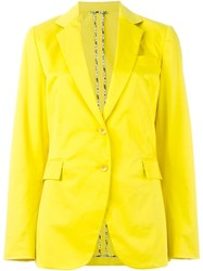 Etro Notched Lapel Blazer Yellow And Orange