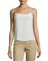 Halston Slim Fit Silk Camisole Chalk