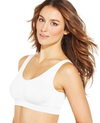 Jockey Modern Micro Seamless Ballet Back Crop Bra 2405 White