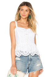 Cupcakes And Cashmere Beverli Tank White