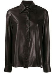 Pinko Shiny Effect Shirt Black