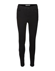 Noisy May Cotton Blend Skinny Jeans Black