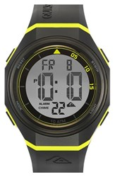Men's Quiksilver 'The Breaker' Silicone Strap Watch 44Mm