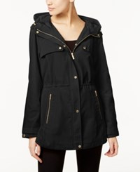 Calvin Klein Hooded Utility Jacket Black
