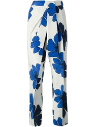 Chloe Chloe Flower Print Trousers Nude And Neutrals