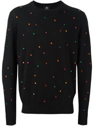 Paul Smith Ps By Embroidered Pullover Sweater Blue