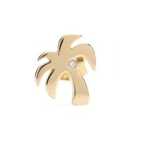Hillier Mytheresa.Com Exclusive Palm Tree 14Kt Yellow Gold Single Earring With White Diamond