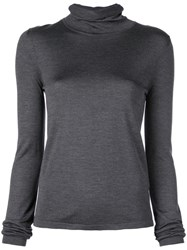 The Row Turtle Neck Pullover Grey