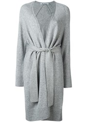 Alexander Wang T By Belted Cardigan Grey