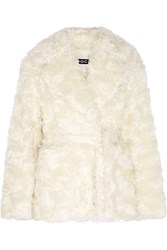 Rochas Mohair And Cotton Blend Jacket White