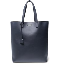 Saint Laurent Leather Tote Navy