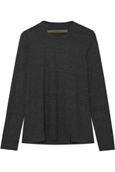 Enza Costa Ribbed Modal Blend Top Charcoal