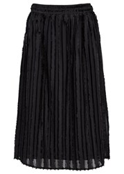 Clu Black Striped Chiffon Skirt