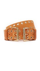 B Low The Belt Bangles Eyelet Nude Gold
