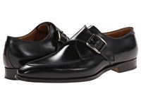 Gravati Calf Leather Buckle Monk Strap Black Men's Monkstrap Shoes
