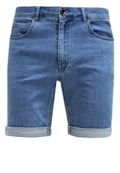 Suit Field Denim Shorts Denim Light Blue