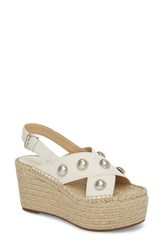 Marc Fisher 'S Ltd Rella Espadrille Platform Sandal Ivory Leather