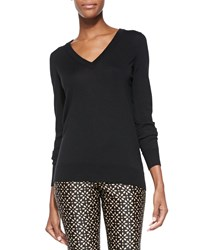 Michael Kors Cashmere Blend Reverse Cowl Sweater Black