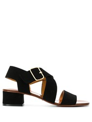Chie Mihara Crossover Strap Sandals Black