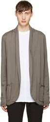 Attachment Grey Draped Jersey Cardigan
