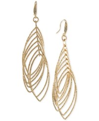 Abs By Allen Schwartz Gold Tone Multi Row Gypsy Hoop Earrings