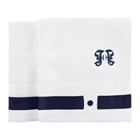 Gianfranco Ferre Navy Blue Towels Set Of 2 Guest Towel