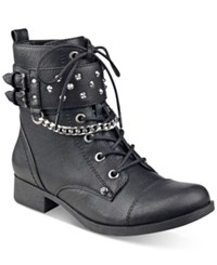 G By Guess Braxton Moto Ankle Booties Women's Shoes Black