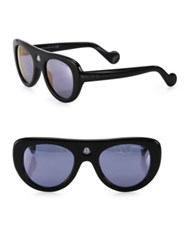 Moncler 51Mm Oval Sunglasses Black